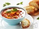 Рецепта Зеленчукова супа с картофи, грах и домати